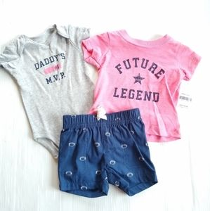 CARTERS • baby boy Daddy's MVP football outfit